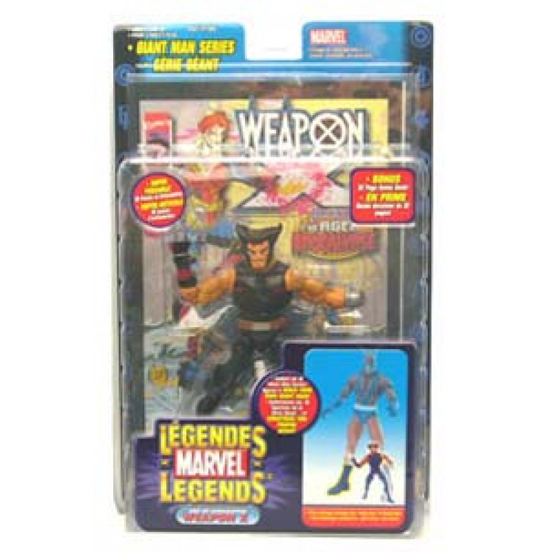 Marvel Legends - Giant Man Series - Wolverine (Era do Apocalipse
